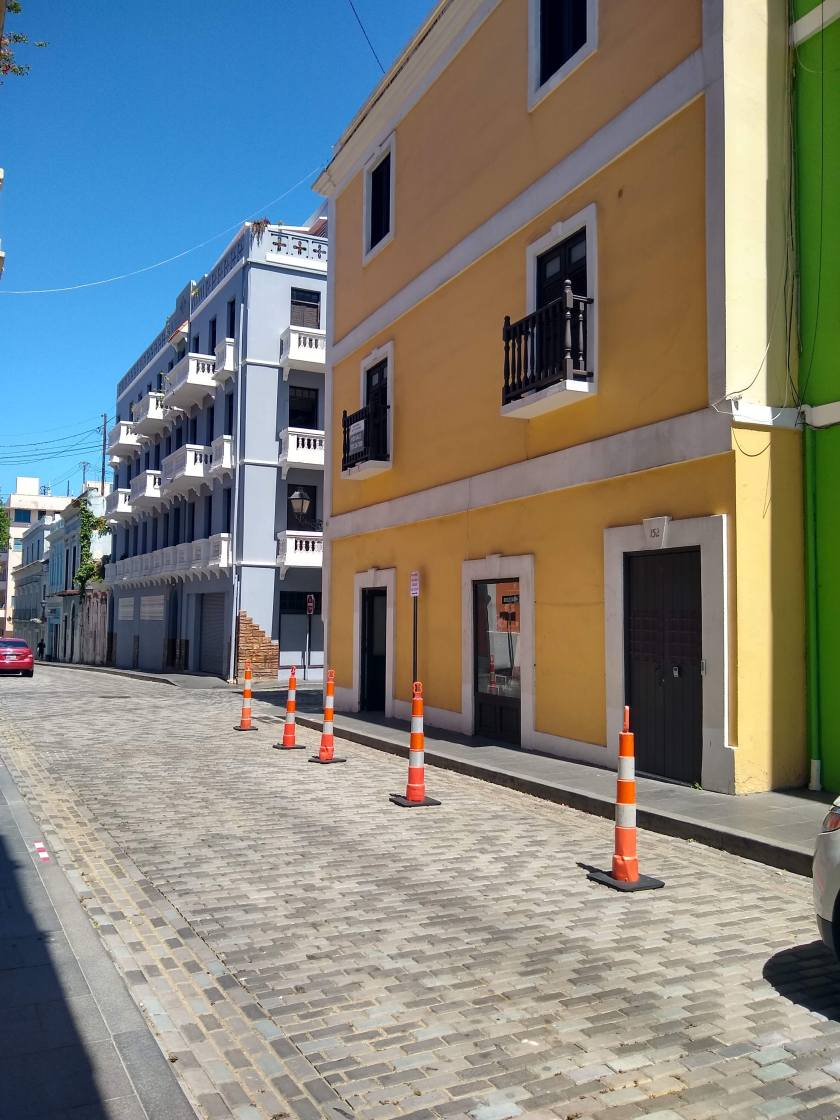 Traffic Cones in Old San Juan